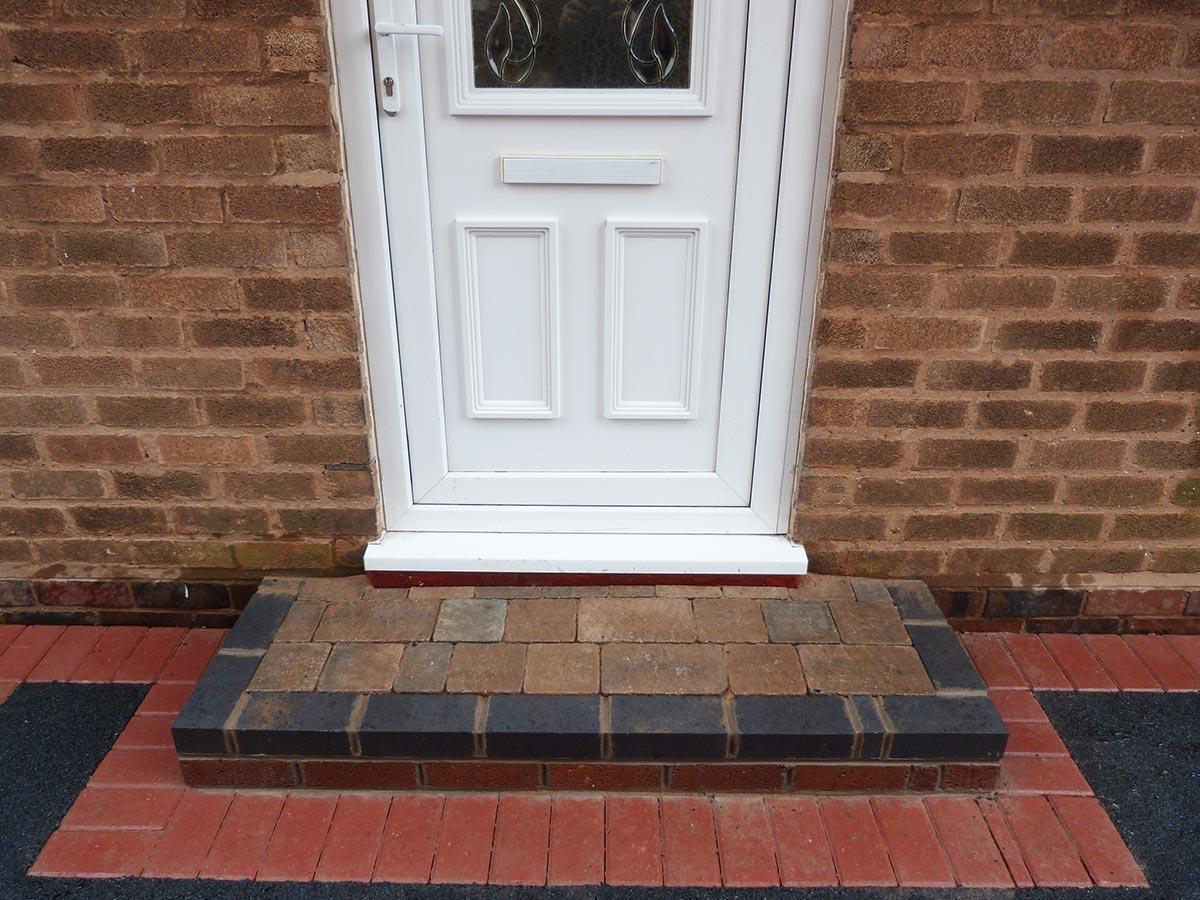 Brick Door Steps Decorative Doorway Entrance Patterns